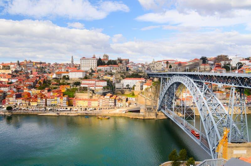 Puente de los Dom Luis I imagenes de archivo