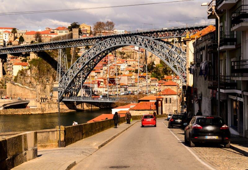 Puente de los Dom Luis I foto de archivo