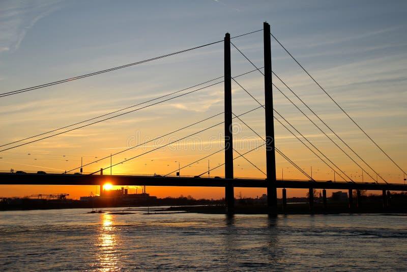 Puente de los heuss de Theodor fotos de archivo