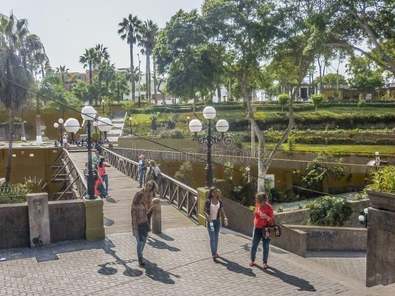 Puente de Los Suspiros Barranco περιοχή στη Λίμα στοκ φωτογραφία με δικαίωμα ελεύθερης χρήσης