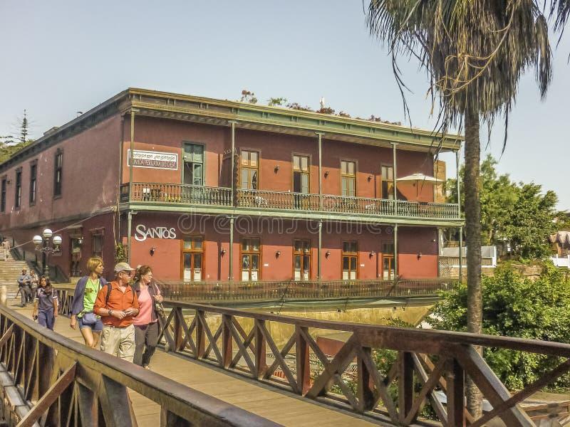 Puente de los Suspiros Barranco Dsitrict em Lima fotos de stock royalty free