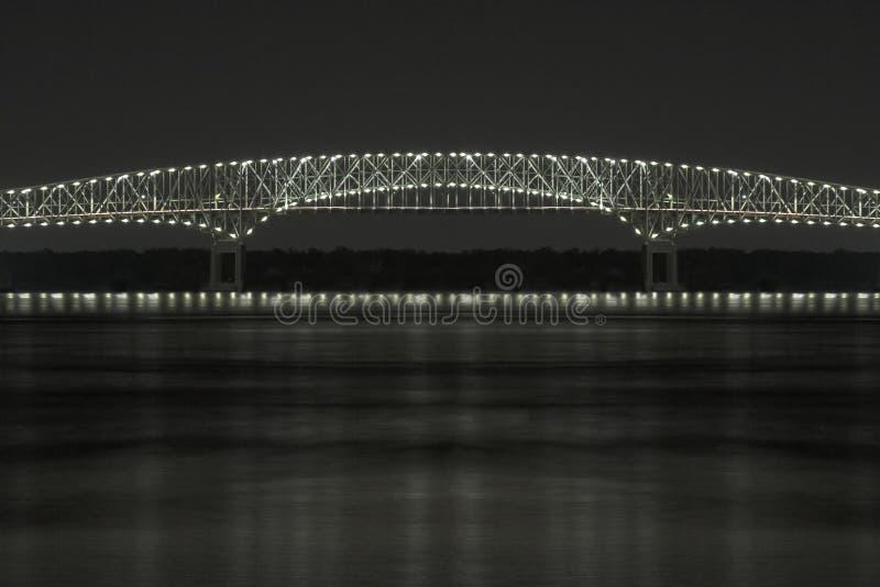 Puente de luces foto de archivo