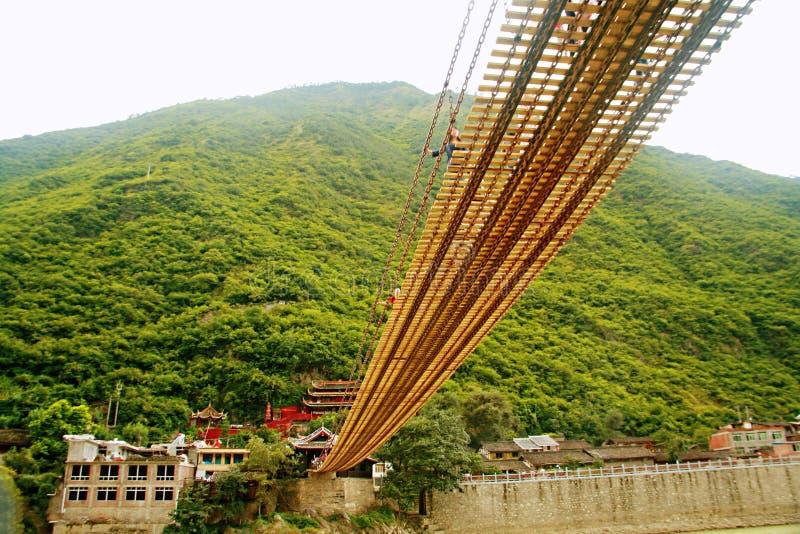 Puente de Luding en Sichuan fotos de archivo