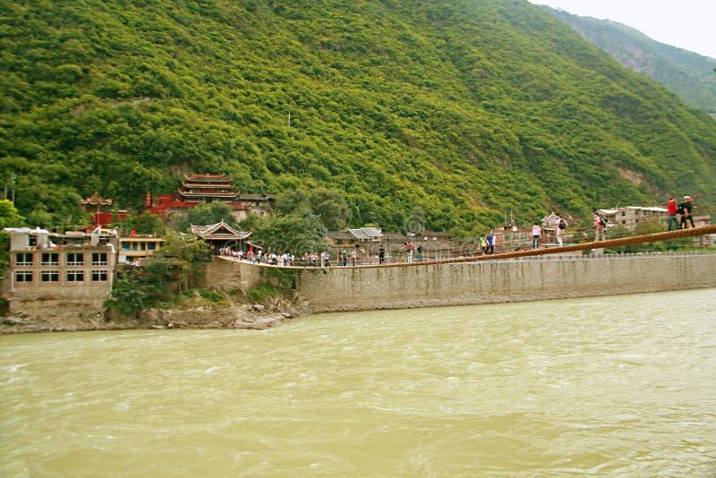 Puente de Luding en Sichuan imagenes de archivo