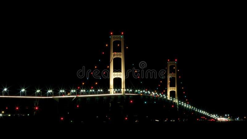 Puente de Mackinac, ciudad Michigan de Mackinaw fotografía de archivo libre de regalías
