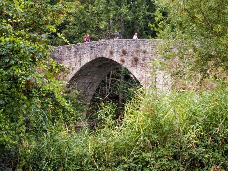 Puente de Magdalena - Pamplona immagine stock libera da diritti