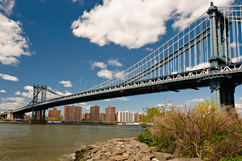 Puente de Manhattan en New York City foto de archivo libre de regalías