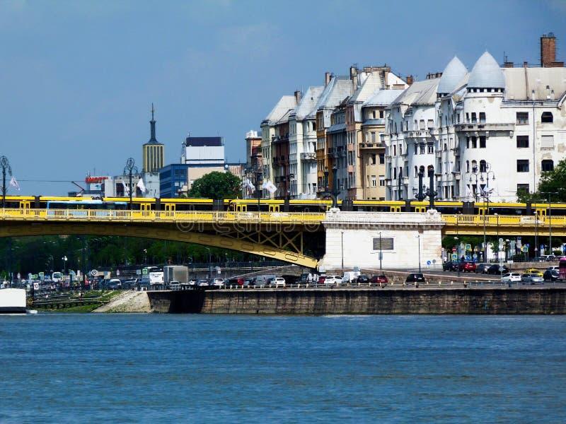 Puente de Margaret en Budapest, una atracción turística popular foto de archivo libre de regalías