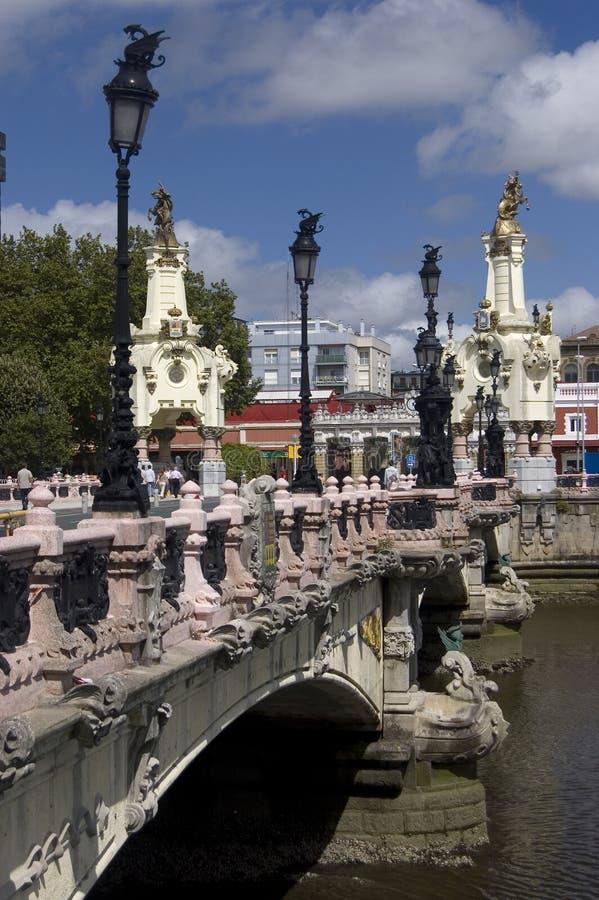 Puente de Maria Cristina imagen de archivo libre de regalías