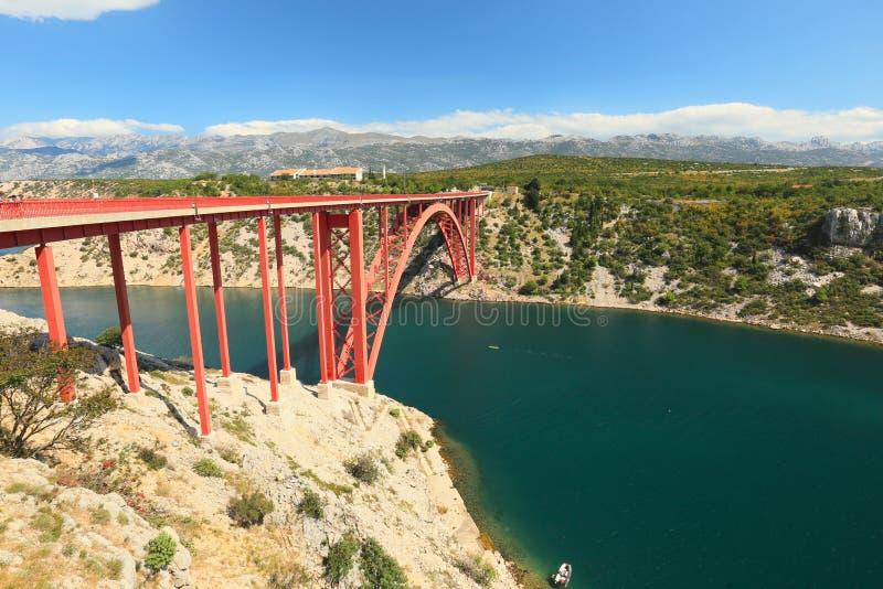 Puente de Maslenica fotos de archivo