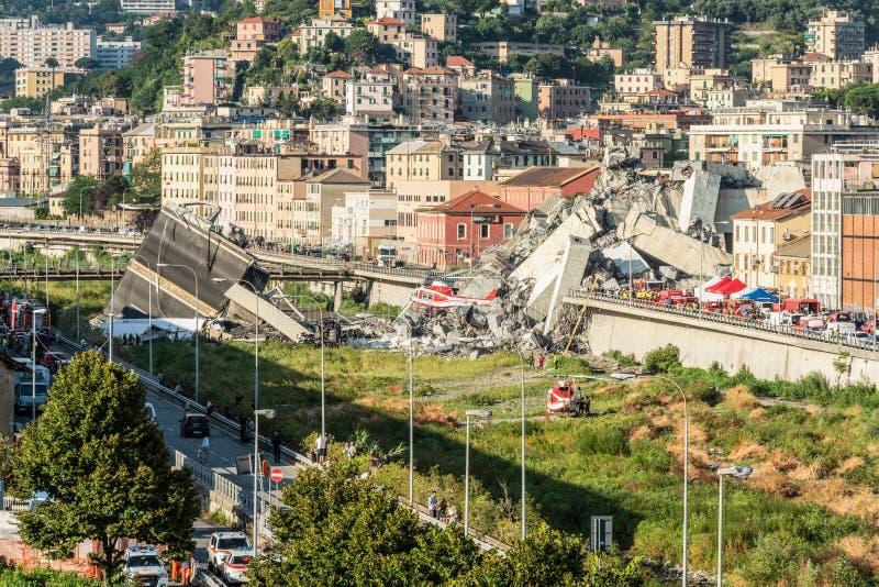 Puente de Morandi fotos de archivo libres de regalías