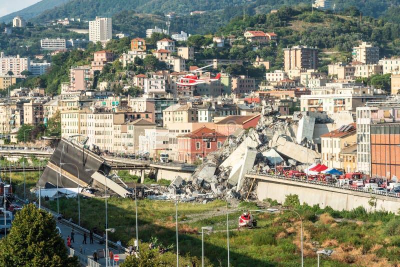 Puente de Morandi foto de archivo