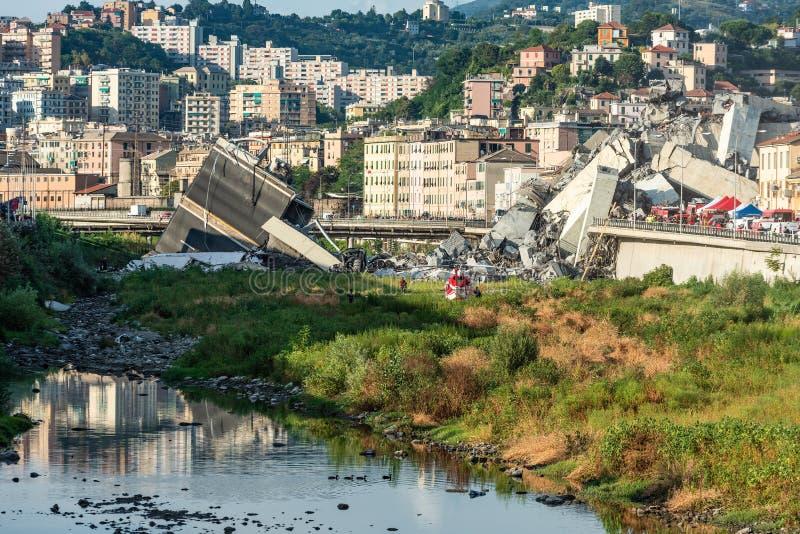 Puente de Morandi fotografía de archivo libre de regalías