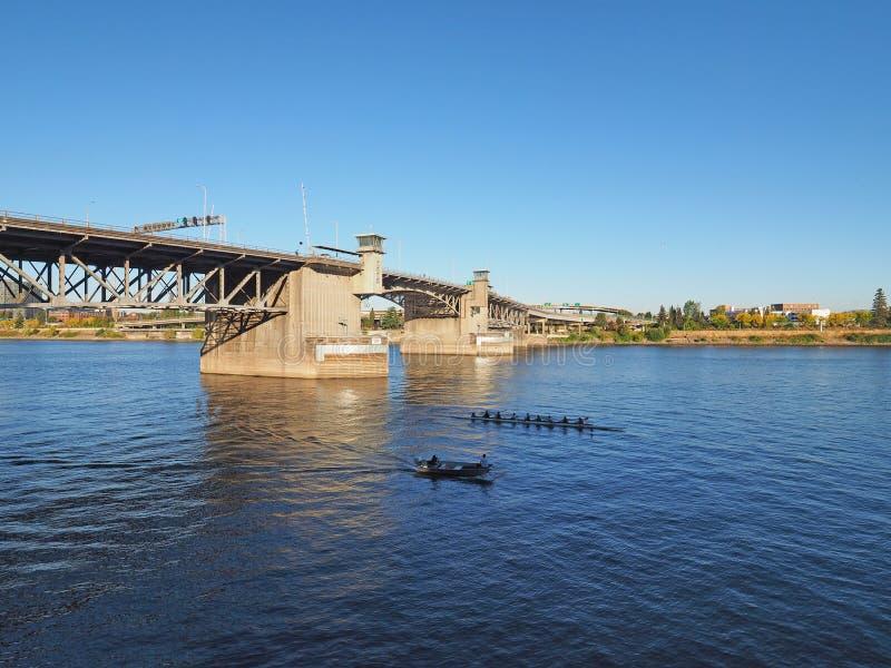 Puente de Morrison, Portland, Oregon fotografía de archivo