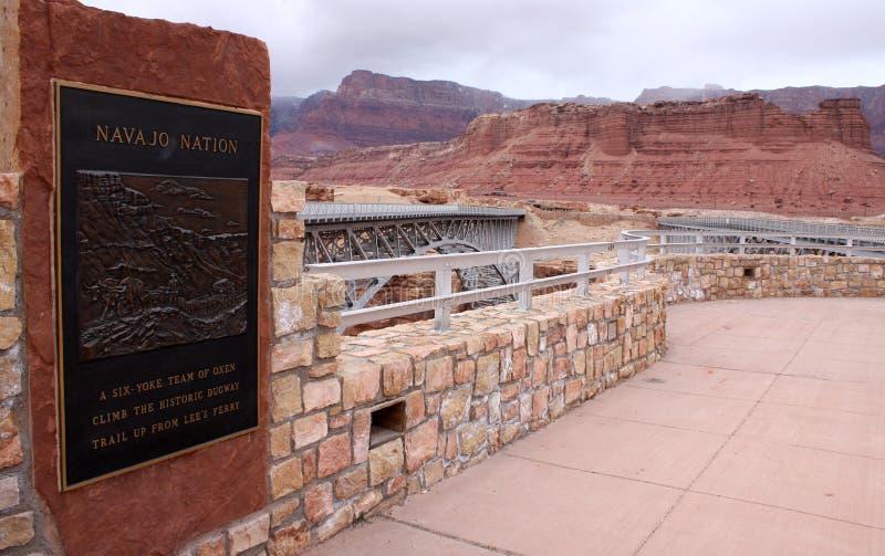 Puente de Navajo, el condado de Coconino, Arizona, los E.E.U.U. fotografía de archivo libre de regalías