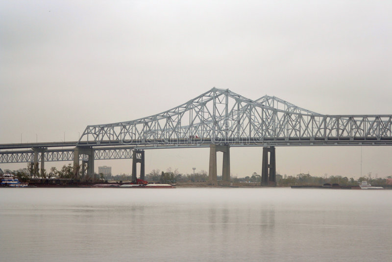 Puente de New Orleans foto de archivo libre de regalías