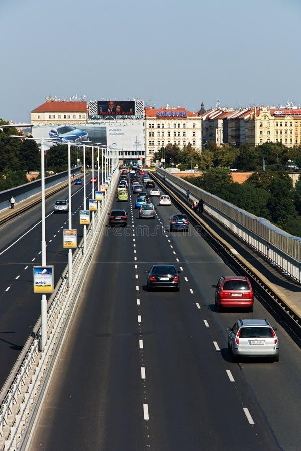 Puente de Nuselsky fotografía de archivo libre de regalías