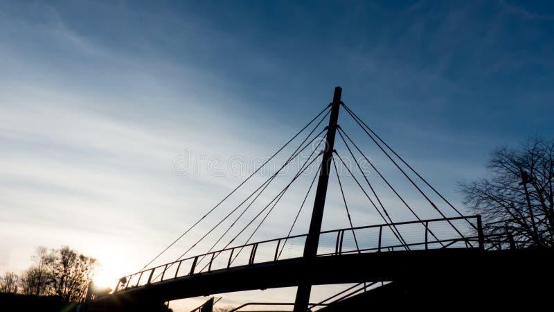 Puente de peatones, Aberdeen, Escocia fotografía de archivo libre de regalías