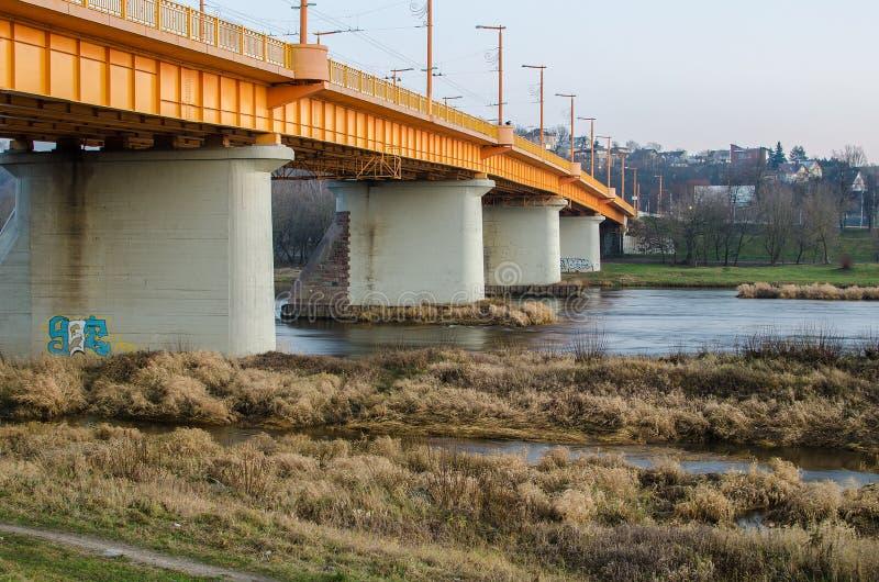 Puente de Petras Vileisis en Kaunas, Lituania imágenes de archivo libres de regalías