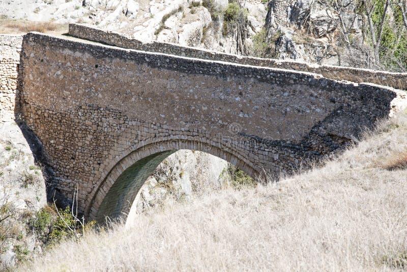 Puente de Picazo em Alarcon, Espanha imagens de stock royalty free