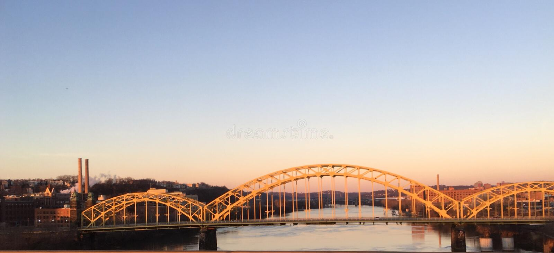 Puente de Pittsburgh imagen de archivo