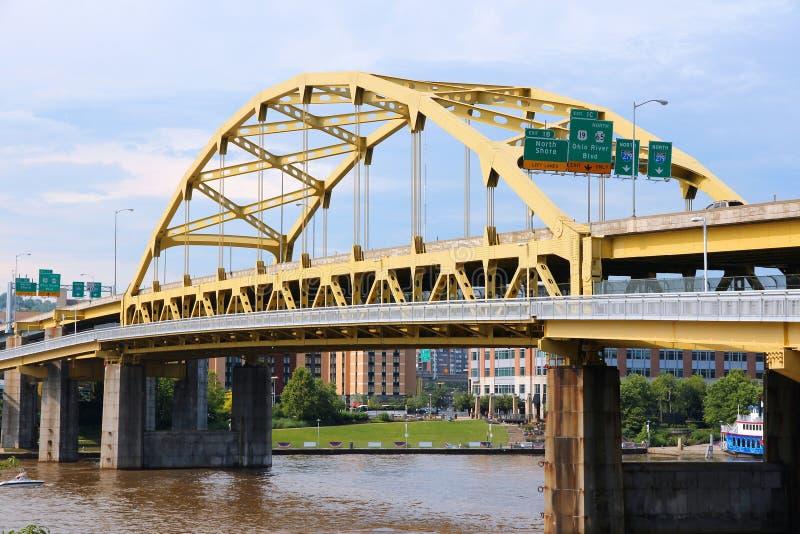 Puente de Pittsburgh imágenes de archivo libres de regalías