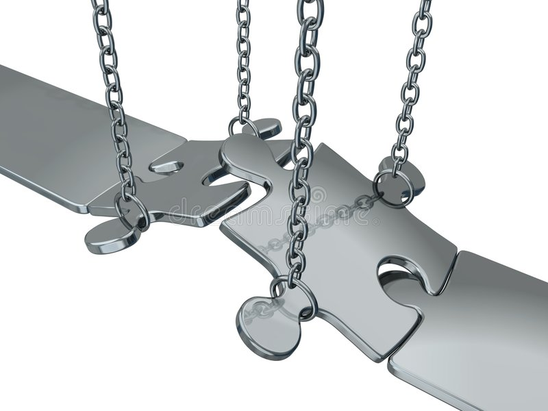 Puente de plata stock de ilustración