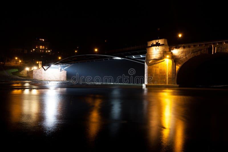 Puente de Poeppelmann foto de archivo