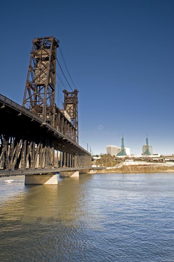 Puente de Portland Oregon imagen de archivo libre de regalías