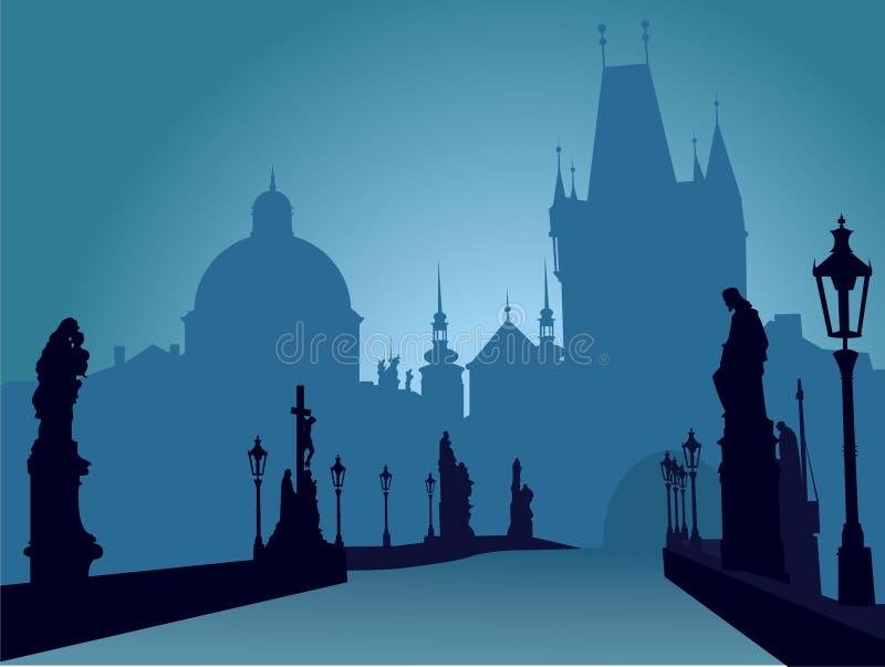 Puente de Praga ilustración del vector