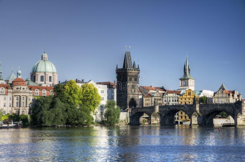 Puente de Praga - de Charles imagen de archivo