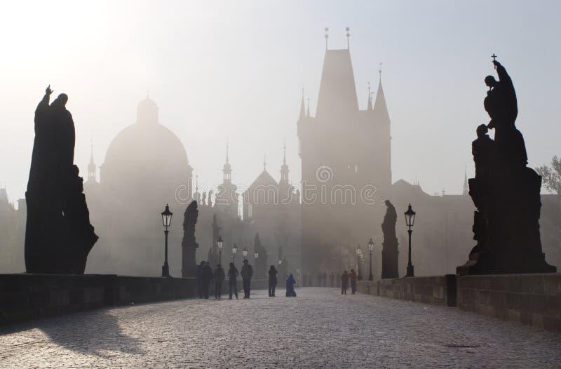 Puente de Praga - de Charles foto de archivo