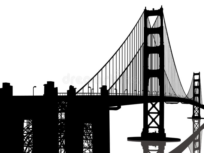 Puente de puerta de oro stock de ilustración
