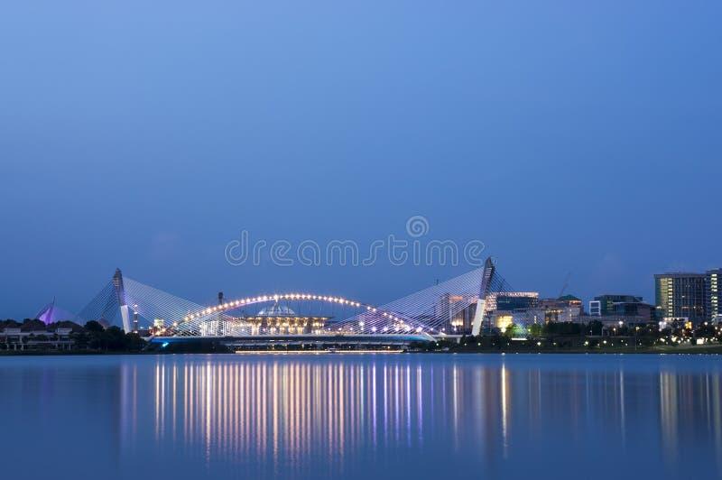 Puente de Putrajaya imagen de archivo