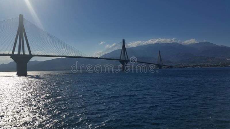 Puente de Río-Antirio fotos de archivo libres de regalías
