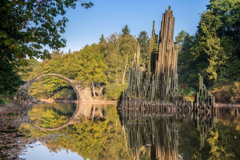 Puente de Rakotz fotos de archivo libres de regalías