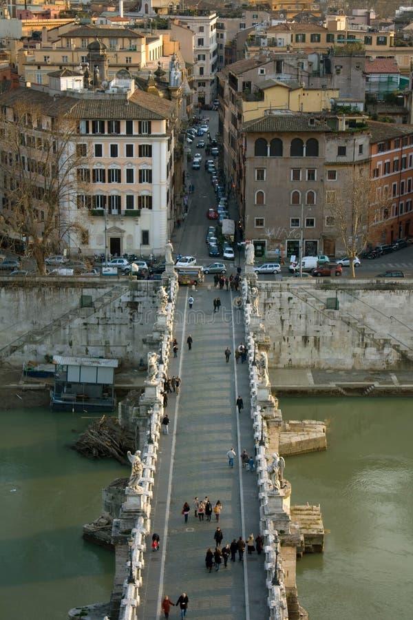 Puente de Sant'Angelo - Roma, Italia imágenes de archivo libres de regalías