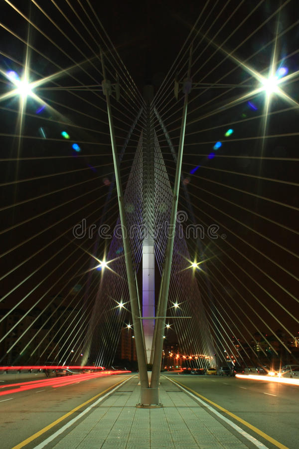 Puente de Seri Wawasan foto de archivo