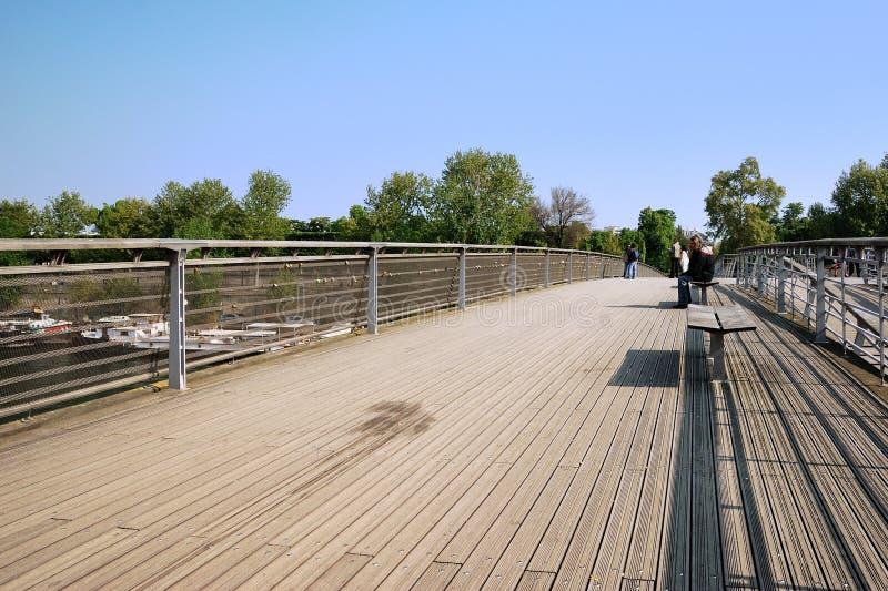 Puente de Solferino en París foto de archivo