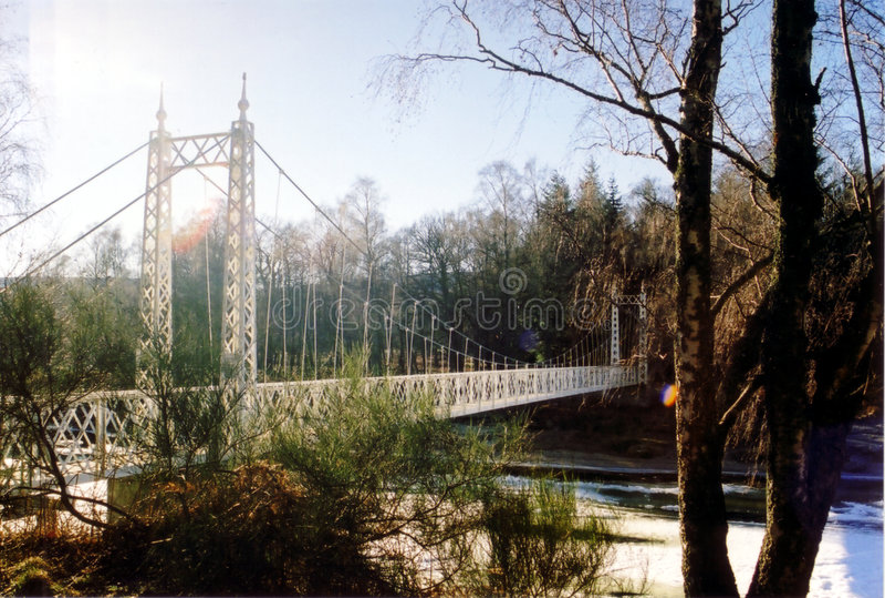 Puente de suspensión imagen de archivo libre de regalías