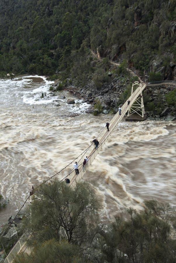 Puente de suspensión de Alexandra, Launceston, Tasmania imagen de archivo libre de regalías