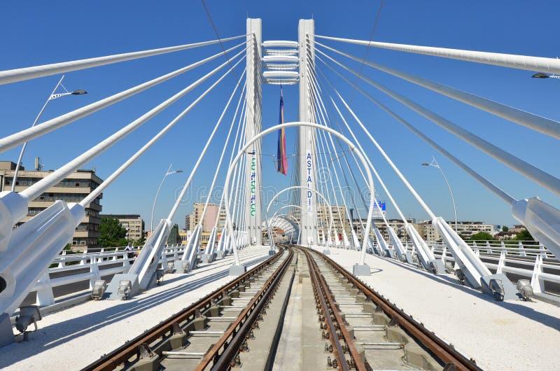 Puente de suspensión de Basarab fotos de archivo