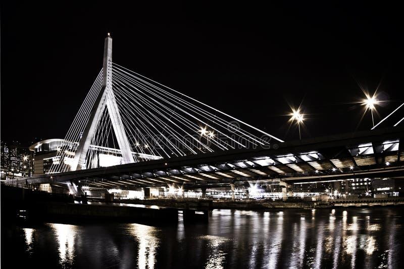 Puente de suspensión de Boston foto de archivo