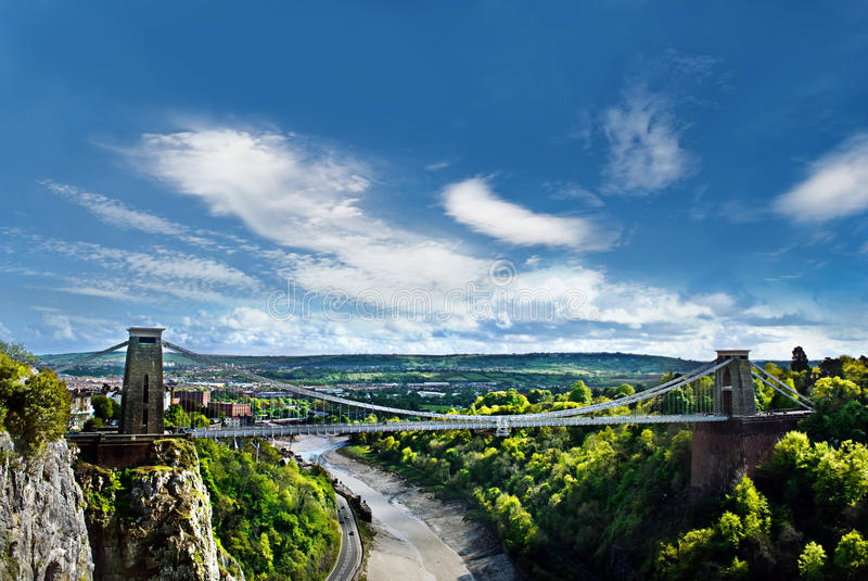 Puente de suspensión de Clifton. imágenes de archivo libres de regalías