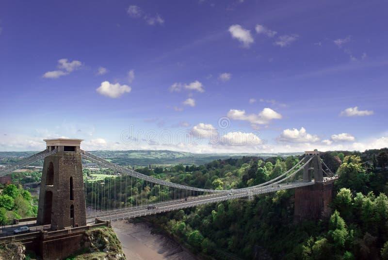 Puente de suspensión de Clifton. imagen de archivo