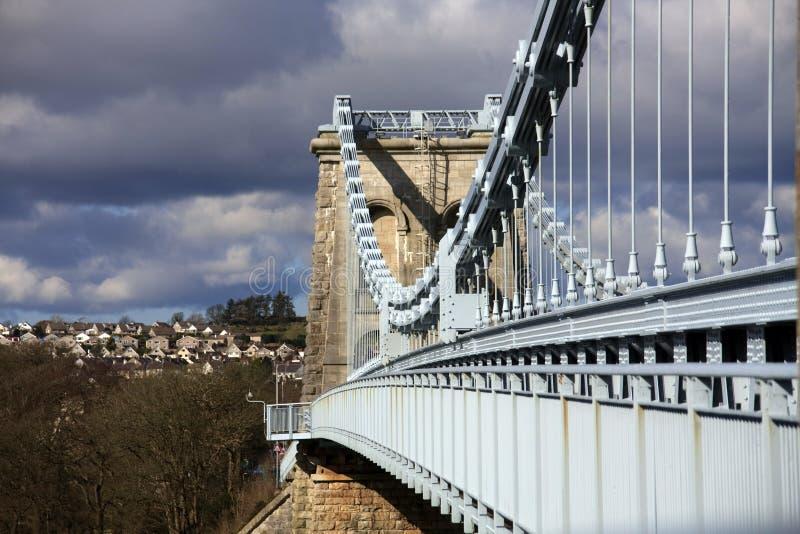 Puente de suspensión de Menai imágenes de archivo libres de regalías