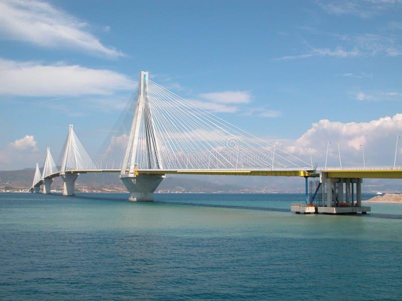 Puente de suspensión de Patras imagen de archivo libre de regalías