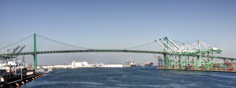 Puente de suspensión de Vincent Thomas San Pedro fotos de archivo