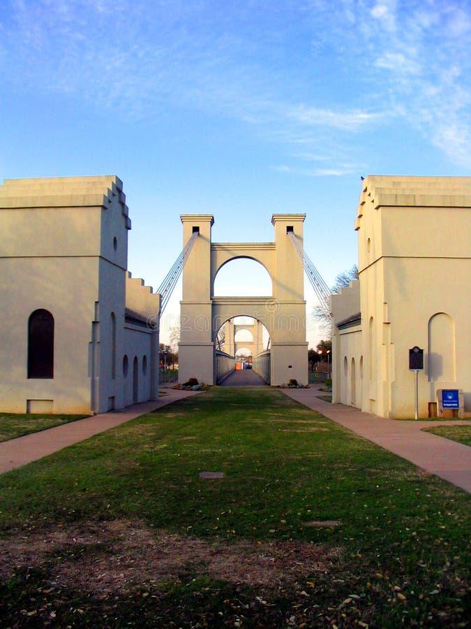 Puente De Suspensión De Waco Imagen de archivo