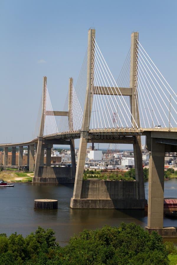 Puente de suspensión en Alabama móvil fotos de archivo
